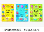 purchased in the shop... | Shutterstock .eps vector #691667371