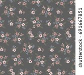 floral seamless pattern of... | Shutterstock .eps vector #691667851