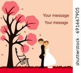 Bride And Groom. Wedding Card...