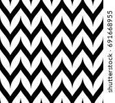 vector zigzag chevron seamless... | Shutterstock .eps vector #691668955