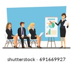 business seminar  vector... | Shutterstock .eps vector #691669927