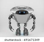 massive robotic character  ... | Shutterstock . vector #691671349