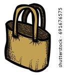 cartoon image of shopping bag....