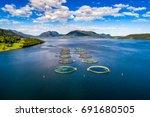 farm salmon fishing in norway   Shutterstock . vector #691680505