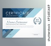 blue certificate design in... | Shutterstock .eps vector #691681669