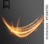 wavy transparent light effect... | Shutterstock .eps vector #691682581
