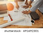 architect or engineer working... | Shutterstock . vector #691692301