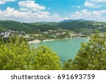 nice view of abrau durso lake... | Shutterstock . vector #691693759