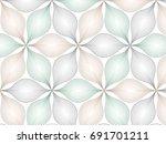 flower pattern vector ... | Shutterstock .eps vector #691701211
