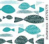 fish seamless pattern. various...   Shutterstock .eps vector #691701775