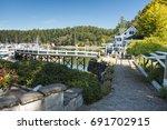 a sunny summer morning in roche ... | Shutterstock . vector #691702915
