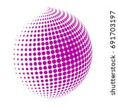 abstract globe dotted sphere ...   Shutterstock .eps vector #691703197