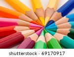 many different colored pencils... | Shutterstock . vector #69170917