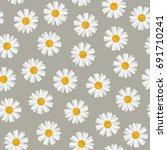 daisy seamless pattern....   Shutterstock . vector #691710241