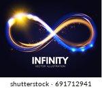 shining infinity symbol.... | Shutterstock .eps vector #691712941