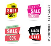 sale banner with different... | Shutterstock .eps vector #691713139