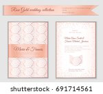 luxury wedding invitation... | Shutterstock .eps vector #691714561