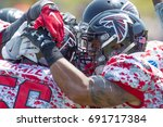 nfl atlanta falcon training... | Shutterstock . vector #691717384