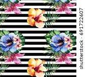 lovely cute beautiful wonderful ... | Shutterstock . vector #691722607