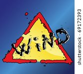 grunge warning sign of the wind ... | Shutterstock .eps vector #69172393