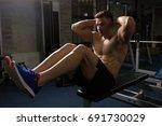 sport  fitness  bodybuilding ... | Shutterstock . vector #691730029