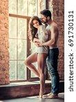 full length portrait of sexy... | Shutterstock . vector #691730131