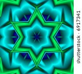 Six Pointed Star In Shades Of...