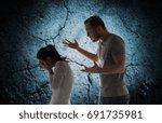 people  relationship... | Shutterstock . vector #691735981