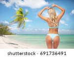 people  travel and summer... | Shutterstock . vector #691736491