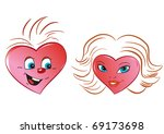 hearts with a hair dress  as... | Shutterstock . vector #69173698