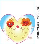 hearts with a hairdress  as... | Shutterstock . vector #69173707