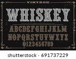 font handcrafted vector...   Shutterstock .eps vector #691737229