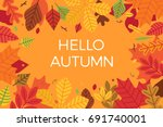 abstract colorful vector autumn ... | Shutterstock .eps vector #691740001