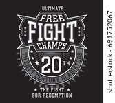fight boxing sport typography ... | Shutterstock .eps vector #691752067