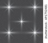 glowing lights effect  flare ... | Shutterstock .eps vector #691752481