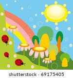 vector illustration. nature and ... | Shutterstock .eps vector #69175405