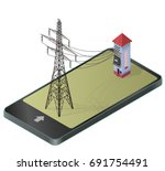 electric transformer isometric...