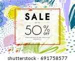 sale banner template design.... | Shutterstock .eps vector #691758577