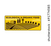 horizontal agriculture logo ... | Shutterstock .eps vector #691774585