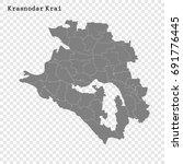 high quality map of krasnodar...   Shutterstock .eps vector #691776445