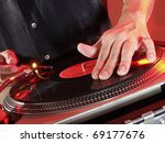 Working Disc Jockey At Party....