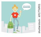 """back to school  buddies ""... 
