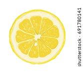 vector illustration with slice... | Shutterstock .eps vector #691780141