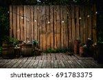 a beautiful recreation area in... | Shutterstock . vector #691783375
