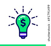 linear icon finance idea of... | Shutterstock .eps vector #691791499
