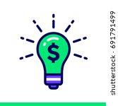linear icon finance idea of... | Shutterstock .eps vector #691791499