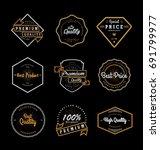set of vintage quality labels | Shutterstock .eps vector #691799977