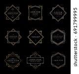 set elegant vintage elegant... | Shutterstock .eps vector #691799995