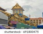 building of binh tay market in... | Shutterstock . vector #691800475