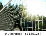 fence stretched mesh background | Shutterstock . vector #691801264